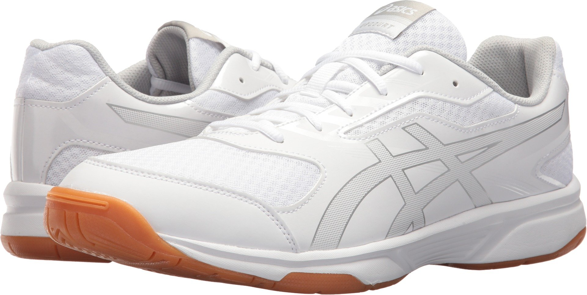 ASICS Men's Upcourt 2 Volleyball Shoe - B705Y.0193 (White/Silver - 6.5) by ASICS