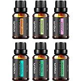 Aceites Esenciales de Grado Terapeutico para Aromaterapia 100% Puros BEST 6 - Los 6 Aceites mas Vendidos, de Lavanda, Eucalip