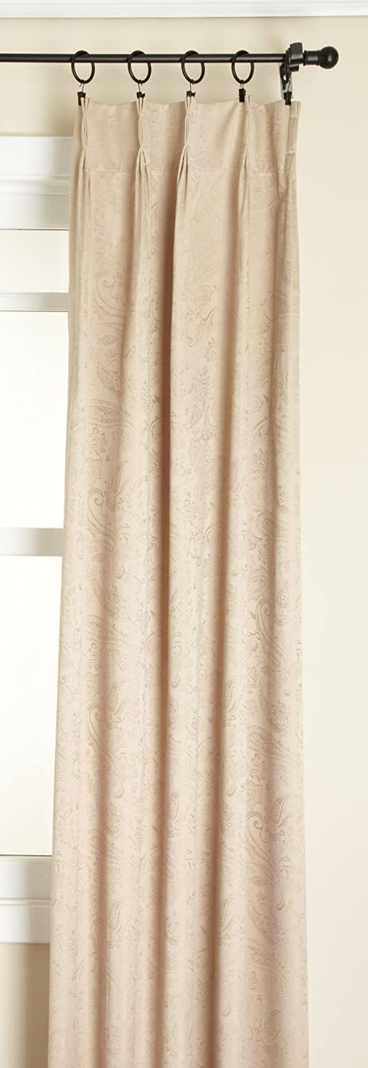 Stylemaster Gabrielle Pinch Pleated Foam Back Patio Panel, Taupe, 96 by 84-Inch