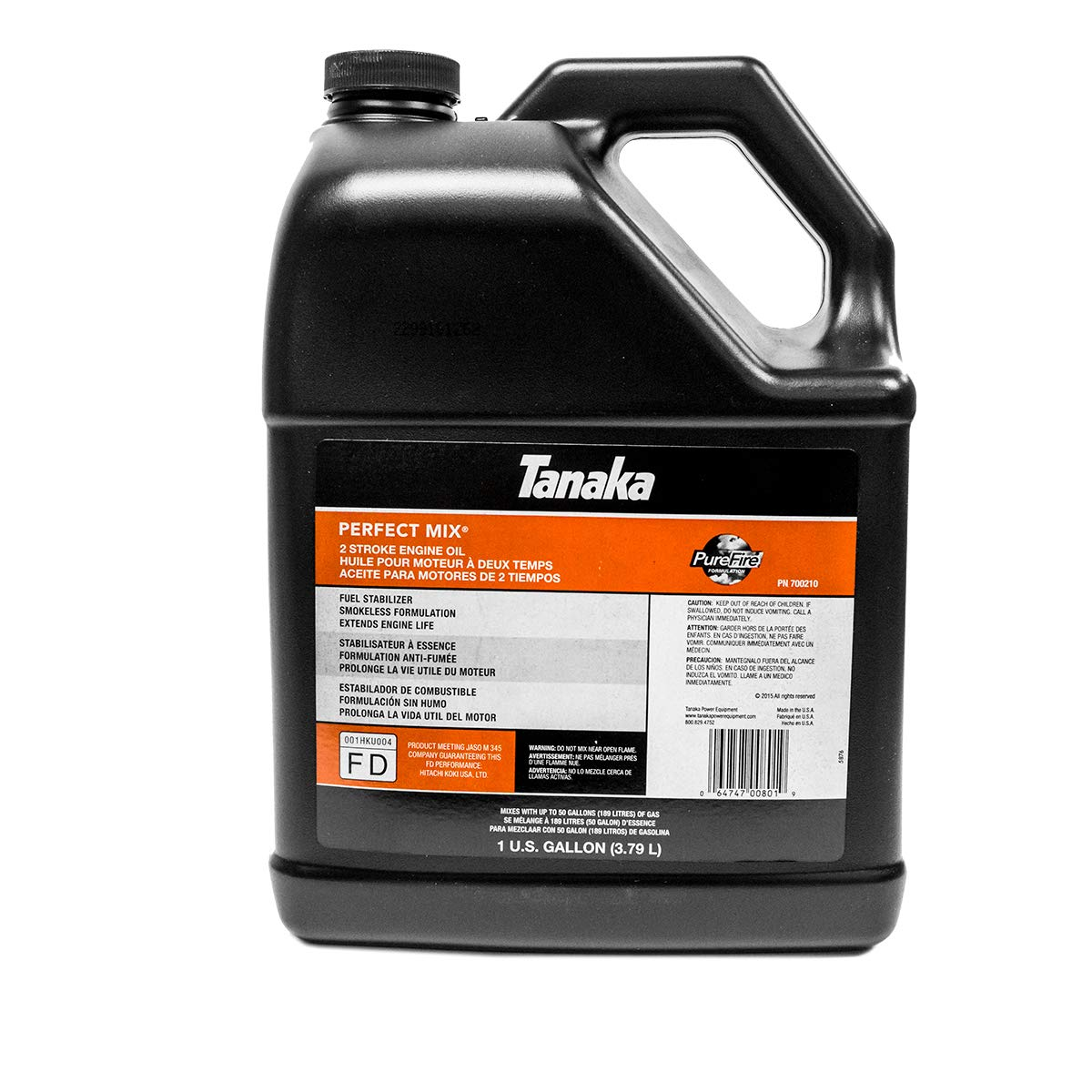 Tanaka 1 Gallon Bottle 2 Cycle Engine Oil Perfect Mix 700210 Two Cycle by Tanaka
