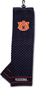 Team Golf NCAA Auburn University Tigers Embroidered Golf Towel, Checkered Scrubber Design, Embroidered Logo,Multi