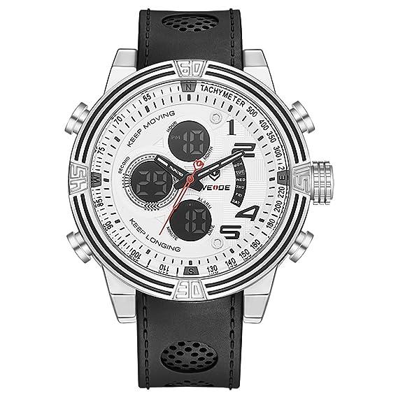 Reloj analógico, digital WEIDE para hombres, diseño militar, múltiples funciones, alarma,