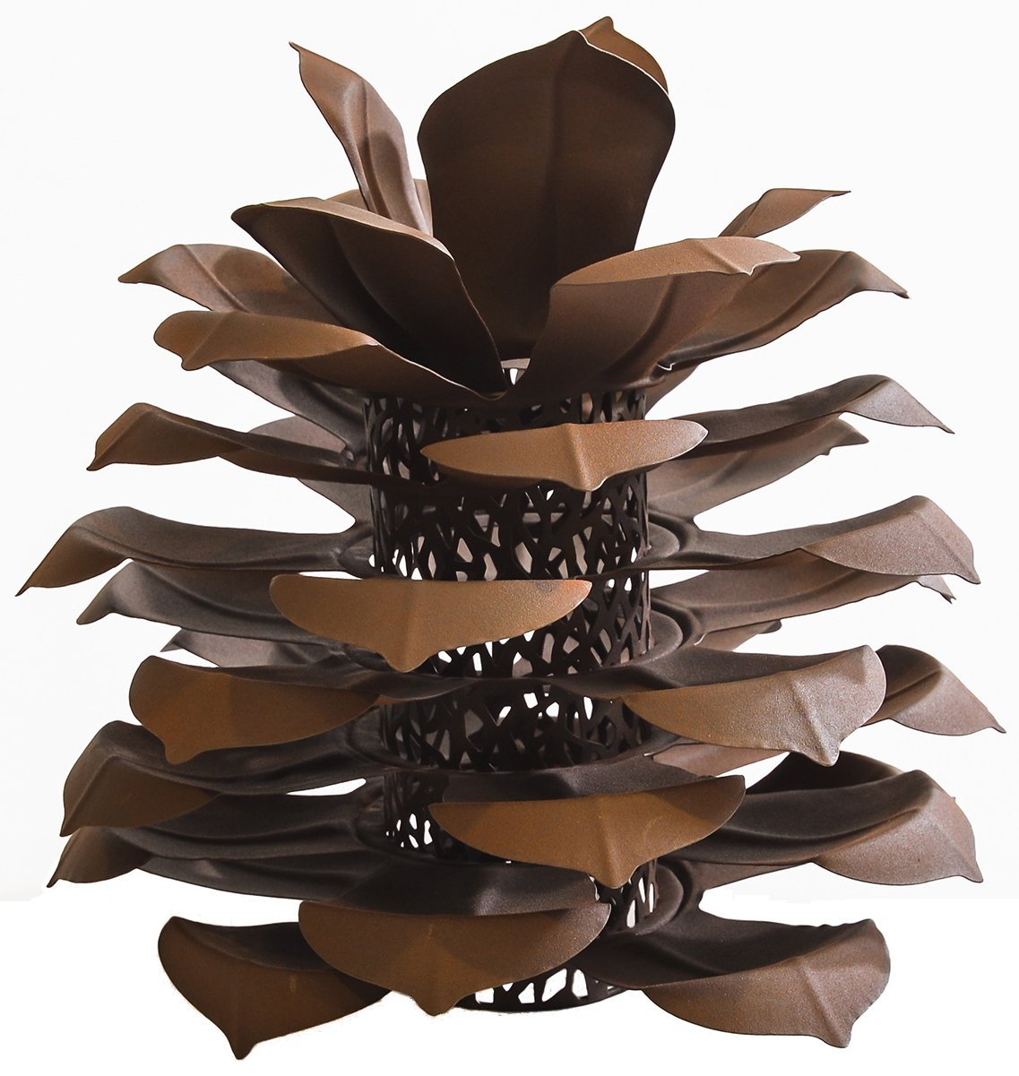 Desert Steel Pinecone Luminary – Handcrafted Rustic Home Décor