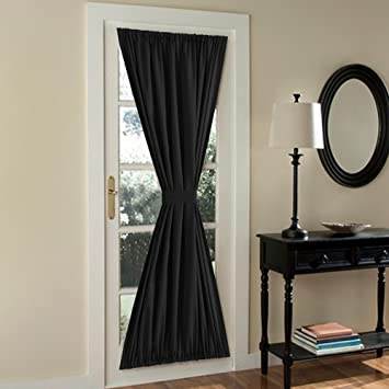 Curtains Ideas curtains 54 x 72 : Amazon.com: FlamingoP French Door Curtains,Solid Blackout Rod ...