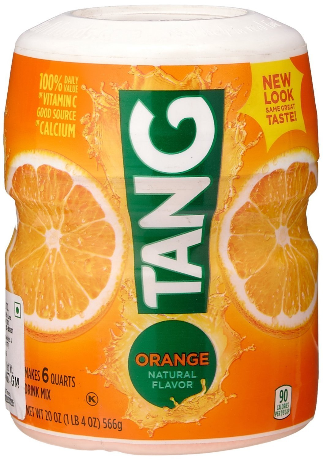 Tang Orange Powdered Drink Mix (Makes 6 Quarts), 20-ounce Canister (2-pack)