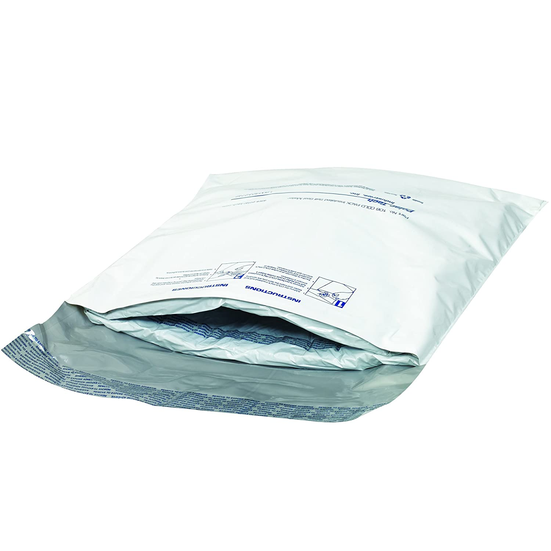 Pack of 18 BOX USA B106CSM Cool Stuff Insulated Mailers White 12 x 14 12 x 14