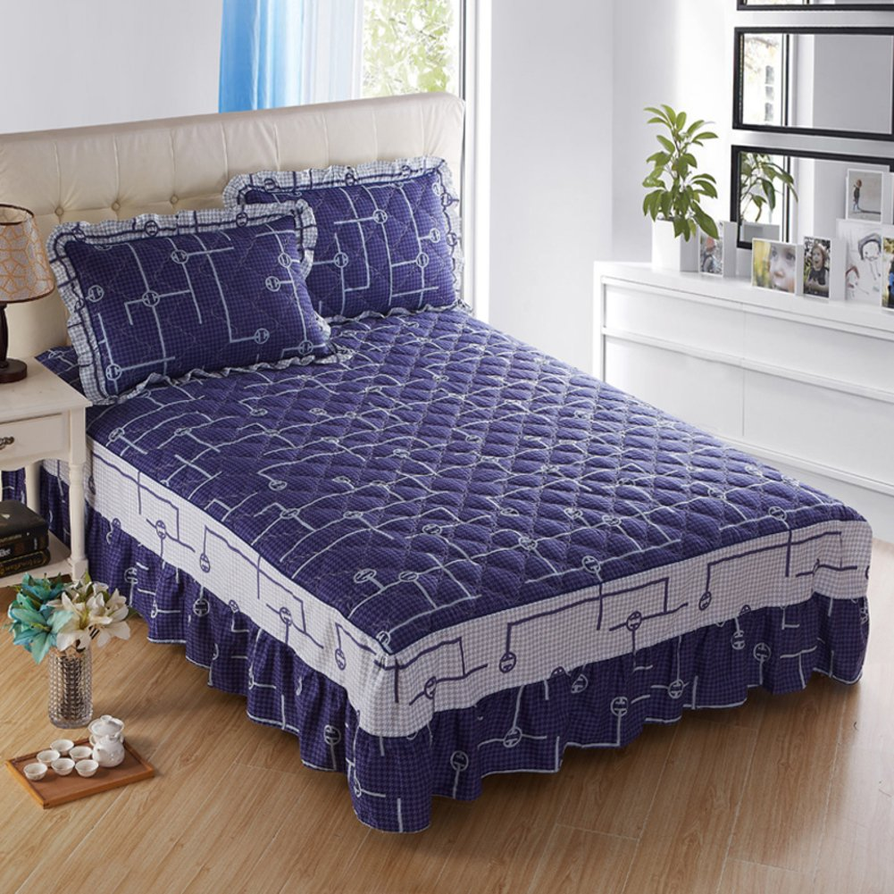 GX&XD Bed Skirt Bed Sets Bed Cover Bedspread Quilted Cotton Thicken-N 200x220cm(79x87inch) Version A