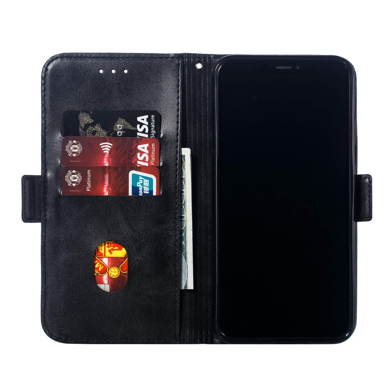Miagon pour Huawei Honor 9 Lite Flip Coque,Cuir PU Housse /à Rabat Portefeuille Etui de Protection avec Stand Fonction Magn/étique Portables Case