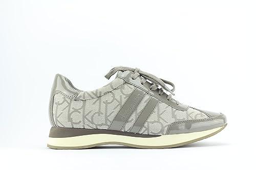 Zapatillas Deportivas Para Mujer Calvin Klein Mod. Luella C. K. Logo N10973 Coronel Marrón o Negro.: Amazon.es: Zapatos y complementos