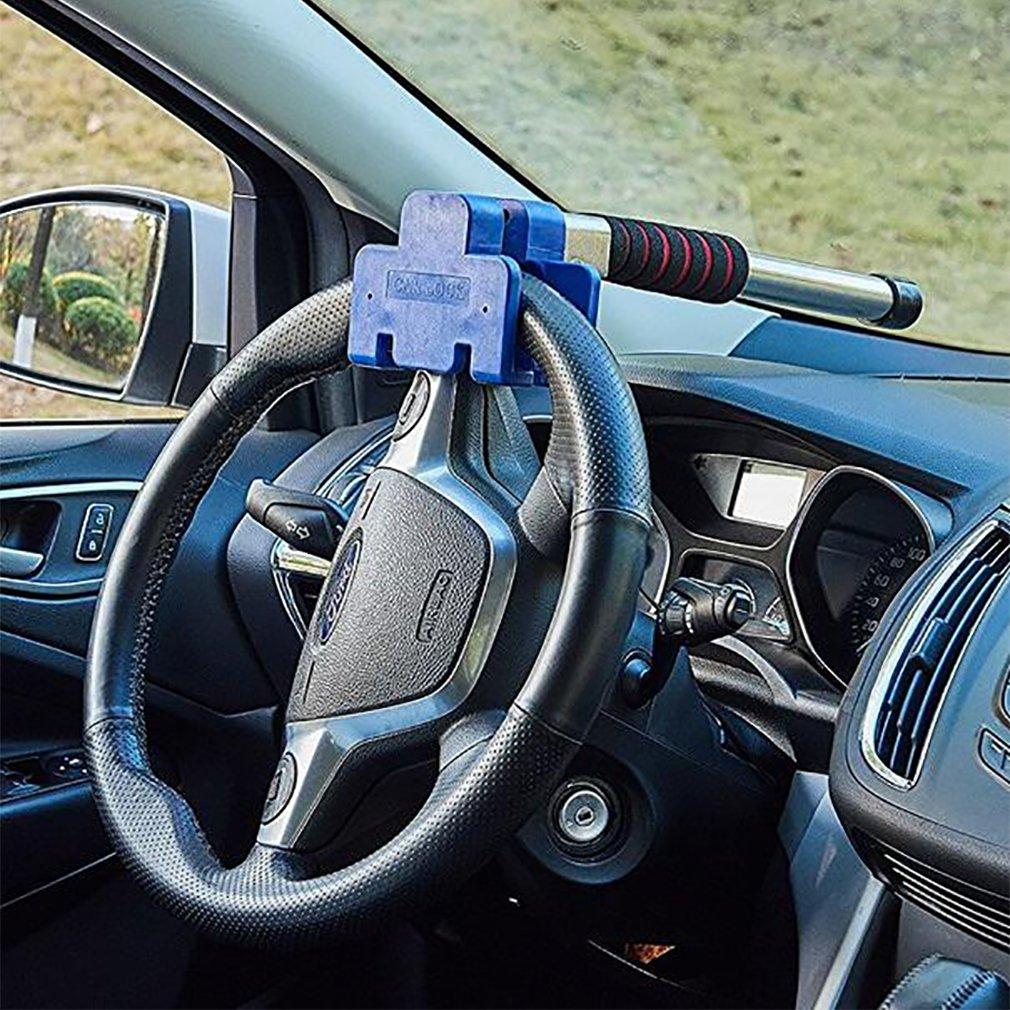 ステアリングホイールロックTタイプ車車オート車盗難防止セキュリティロックサイズ3810 cm B07DN6JX9Y
