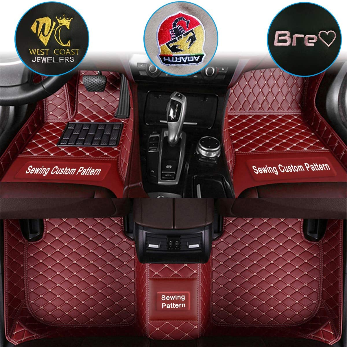 Leather Car Floor Mats for Infiniti G wit G25 G35 100% quality warranty! Series G36 Rapid rise G37