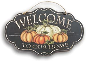 Wooden Hanging Thanksgiving Autumn Themed Welcome to Our Home Decor Sign - 14 x 8.5