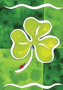 Toland Home Garden Shamrock & Friend 12.5 x 18 Inch Decorative Garden Flag