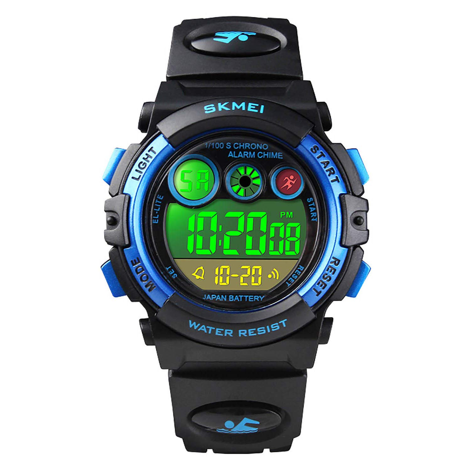 Boys Sport Digital Watch Kids Multifunction Outdoor Watches Waterproof Electronic Running Fashion Girls Watch with LED Alarm Clock Stopwatch Calendar Date - Blue by cofuo