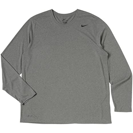 e1823061 Image Unavailable. Image not available for. Color: Nike Men's Carbon  Heather Legend Long Sleeve Performance Shirt ...