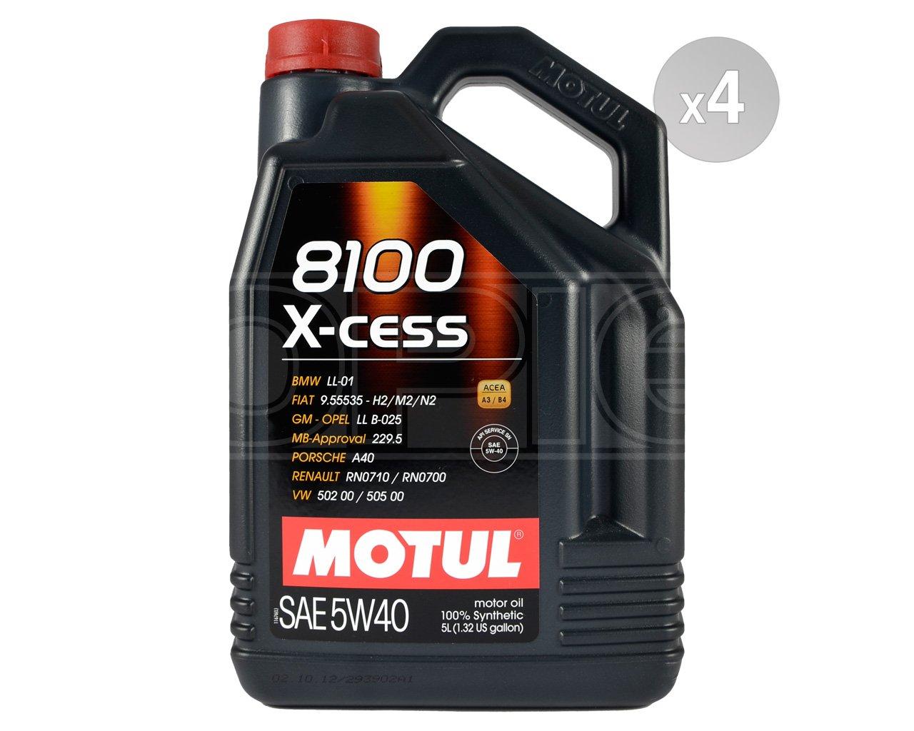 Amazon.com: Motul 102870-4 8100 X-Cess 5w40 Oil Case/4-5 Liters: Automotive