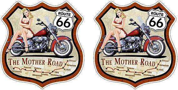 American Biker Dream Road Route 66 Bike Rebel Oldschool Vintage Aufkleber Sticker Gratis Schlüsselringanhänger Aus Kokosnuss Schale Auto Motorrad Laptop Tuning Biker Rockabilly Bobber 1 Mc Auto