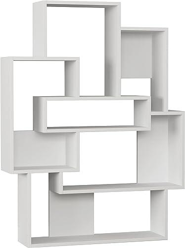 Ada Home Decor Bernard Modern White Bookcase 51.97'' H x 39.76'' W x 8.66'' D/Shelving Unit/Bookshelf