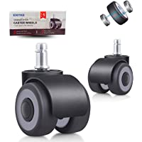 """Anyke 2"""" Office Chair Wheels Replacement Upgrade Design Chair Casters Heavy Duty with 4 Bearings 700LBS Protect Hardwood…"""