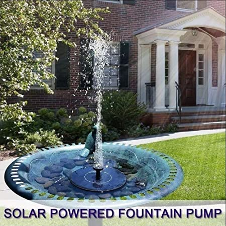 Z.L.FFLZ Bomba de Fuente Solar Bomba de jardín Fuente Solar de la decoración Fuente Redonda Flotante de Agua con luz LED: Amazon.es: Hogar