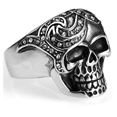 Daesar Anillo 1PC Anillo Acero Inoxidable Calavera Punk ...
