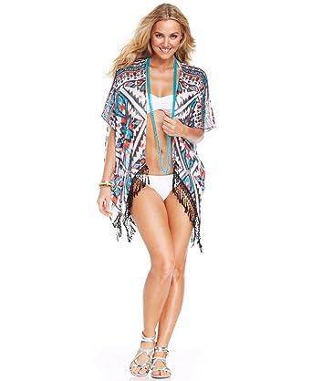c4b1d487c4 Becca By Rebecca Virtue Women s Swim Kimono Cover Up (M L