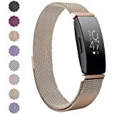 Compatible Fitbit Inspire HR Bands/Fitbit Inspire Bands, MOGOI Inspire Accessories Milanese Stainless Steel Mesh Women Men Replacement Wristbands Strap for Fitbit Inspire/Inspire HR Fitness Tracker