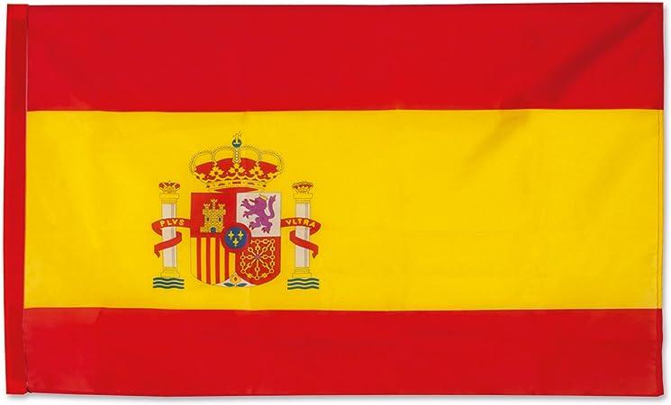 GARGOLA.ES OPERADORES DIGITALES Bandera España, Bandera balcón, 12 de Octubre, Bandera con Escudo, se Puede Poner en un Palo-Colores Vivos 90x150 cm.: Amazon.es: Deportes y aire libre