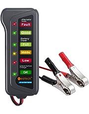 Neoteck, Tester per la Batteria dell'Auto, da12V, con 6luci LED e alternatore Digitale, Prodotto Multi Funzionale, per l'alternatore di Auto e Moto