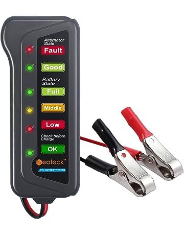 Neoteck NTK048-V - Medidor de Batería de coche 12V 6 LED Probador de Digital