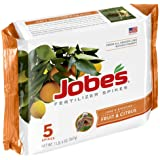 Jobe's Fruit & Citrus Fertilizer Spikes 9-12-12 Time Release Fertilizer for All Fruit Trees, 5 Spikes per Package