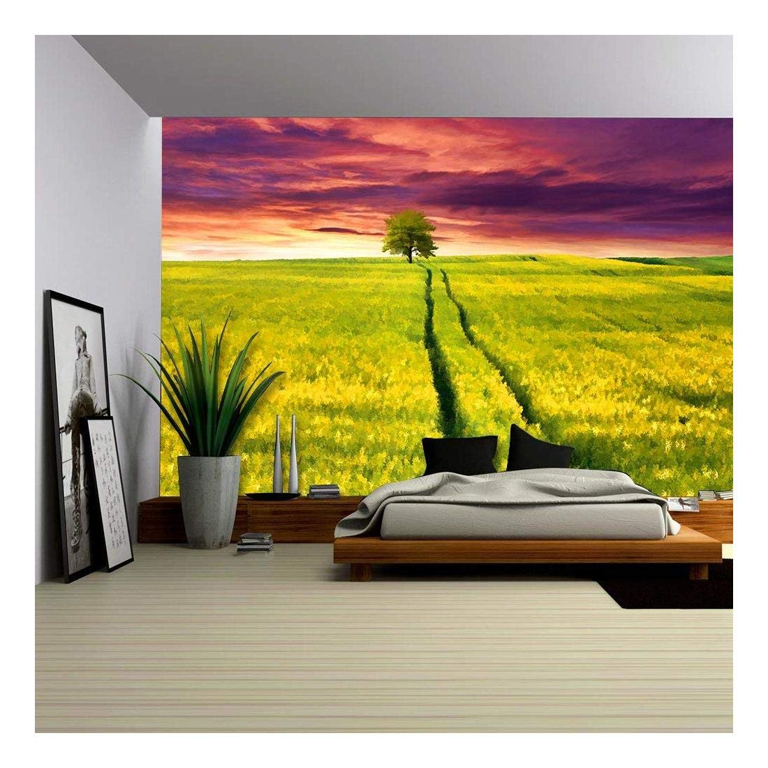 Digital Artwork in Watercolor Painting Style Colorful Summer Sunrise ...
