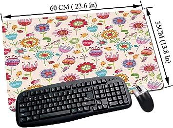Alfombrilla Raton Gaming,Floral, Estilo de dibujo de dibujos ...