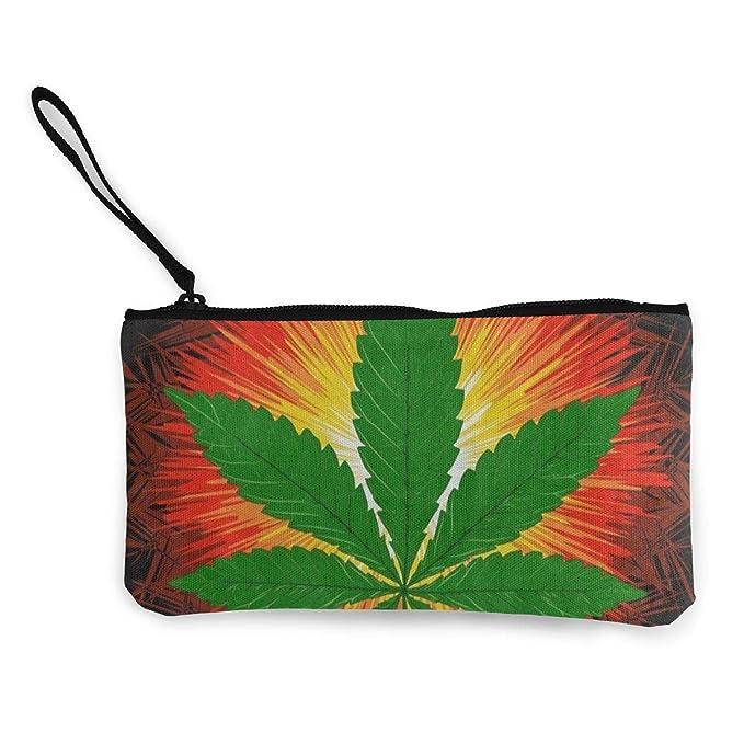Amazon.com: Monedero de lona Marijuana Leaf Cannabis Leaf ...