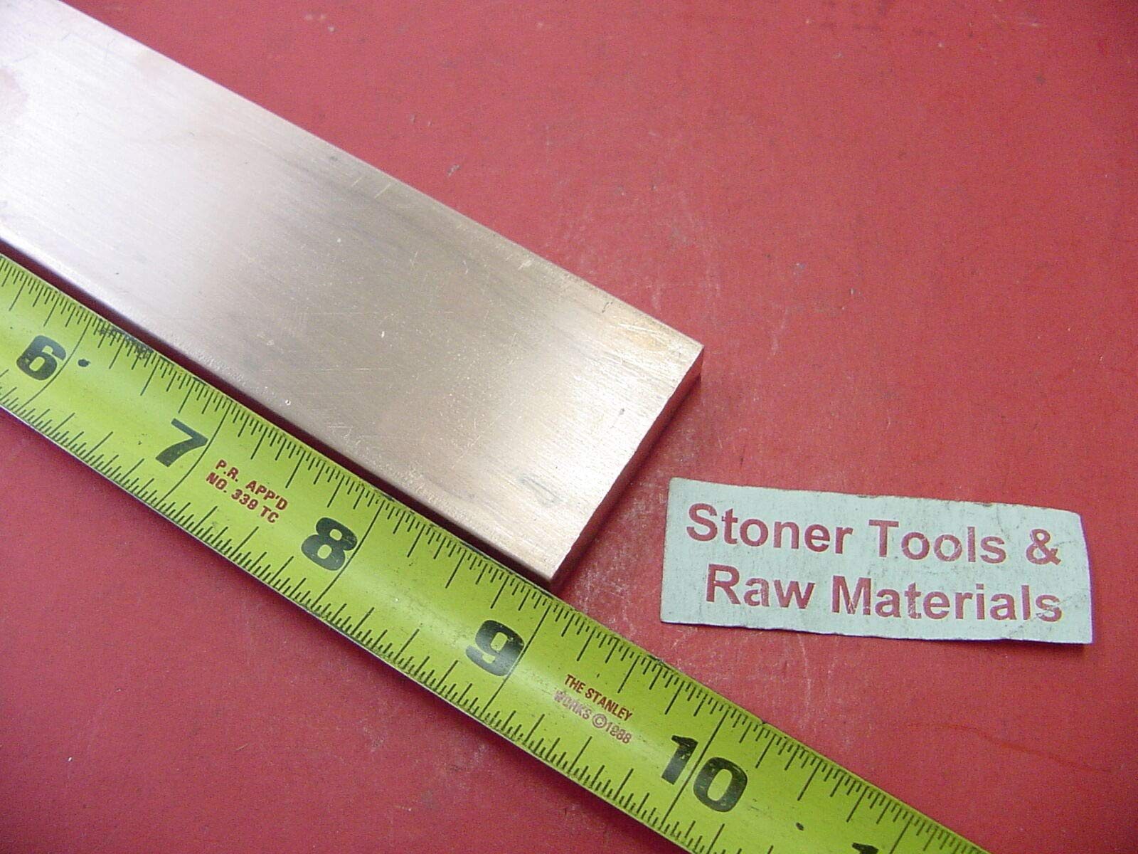 3/8''x 1-1/2'' C110 COPPER BAR 9'' long Solid Flat Bar .375'' Mill Bus Bar Stock H02 by Okumahome