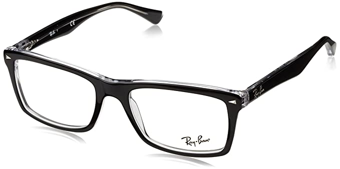 9e9615e501f Ray-Ban RX5287 Glasses in Black RX5287 2000 52  Rayban  Amazon.co.uk   Clothing