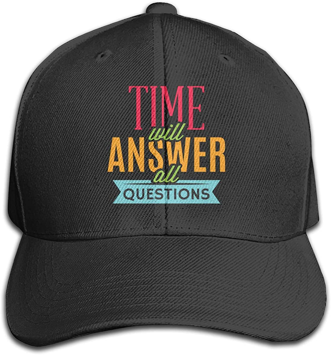 Zdsg Time Will Answer All Questions Dad Hat Unisex Cotton Hat Adjustable Baseball Cap