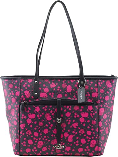 7e47f8fa22 buy coach tote bagperforated flowers 86870 308c4  usa coach city tote with  pouch in prairie calico floral print canvas f57283 ea55f b3bcf