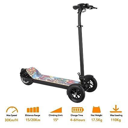 FastDirect Scooter Patinete Eléctrico Plegable 3 Ruedas con Manillar para Niños o Adolescentes Altura Ajustable 96