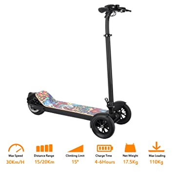 FastDirect Scooter Patinete Eléctrico Plegable 3 Ruedas con ...