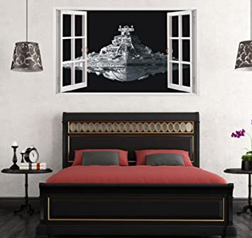 Amazon Com Star Wars Stickers 3d Star Destroyer Waterproof Wall