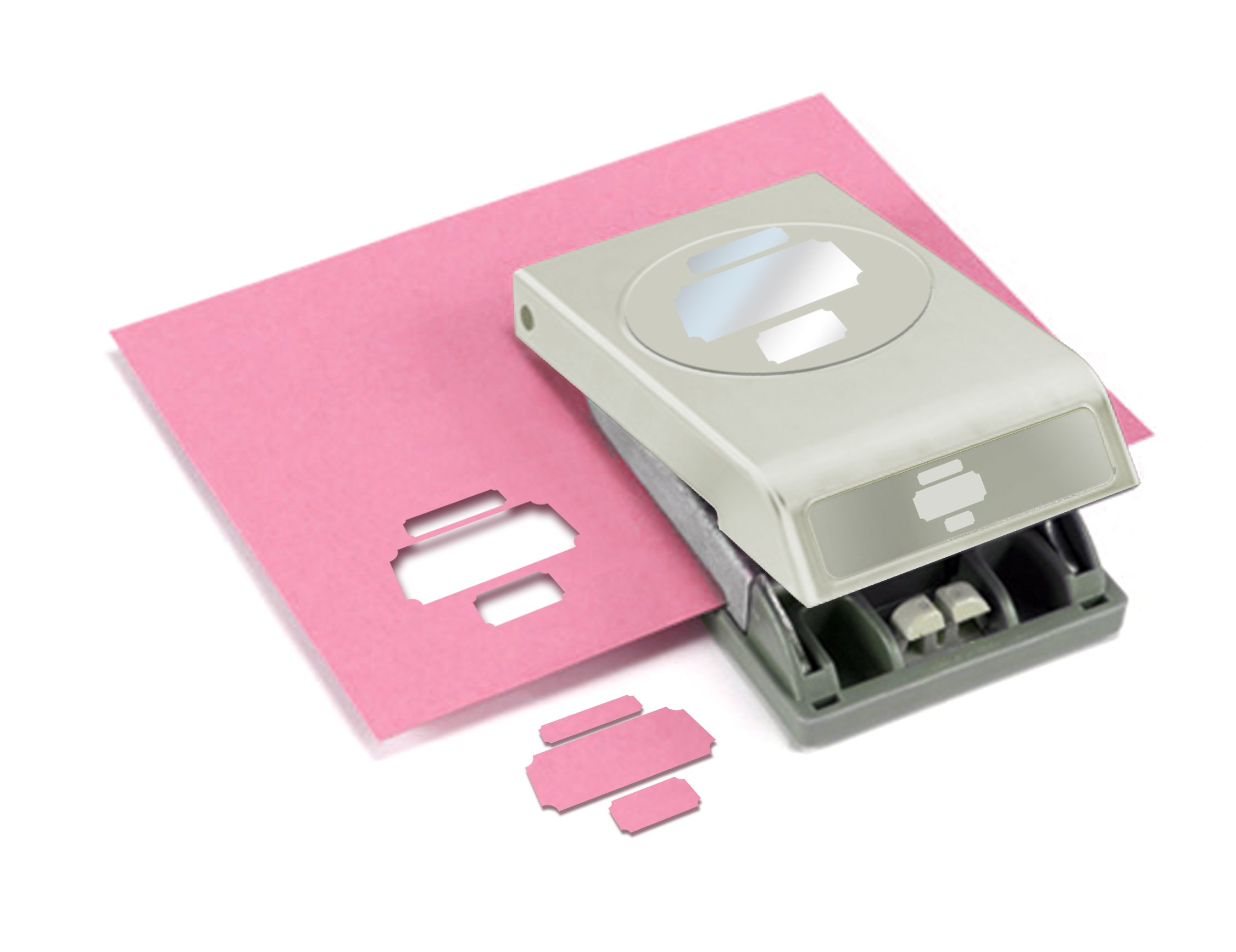 EK Tools Perforadora de papel, grande, etiquetas fotográf...