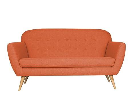 Divani Stile Vintage.Slaap Sofa Chaise Divano Stile Vintage Colore Arancione