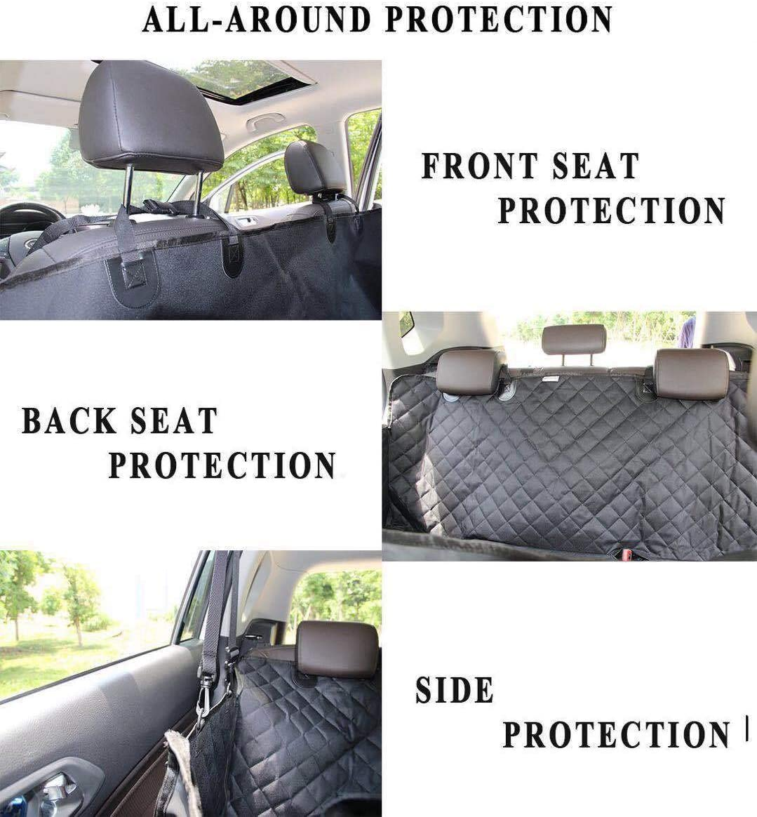 Heavy Duty Black Rear Seat Cover Pet Back Protector For Suzuki Celerio 2015 On