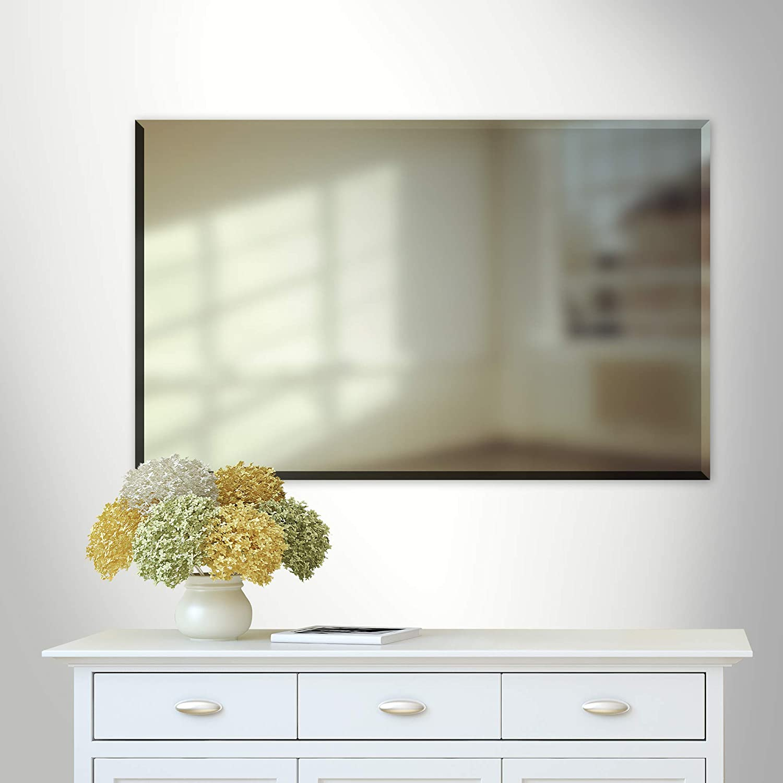 30X48 Rectangle|Large Mirror Vanity,Powder room,Bathroom Mirrorize Canada Bevelled Vanity  Wall Mirror Silver Bedroom