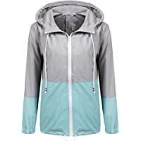 c4038a5fb83 SoTeer Women's Waterproof Raincoat Outdoor Hooded Rain Jacket Windbreaker  (15 Colors S-XXL)