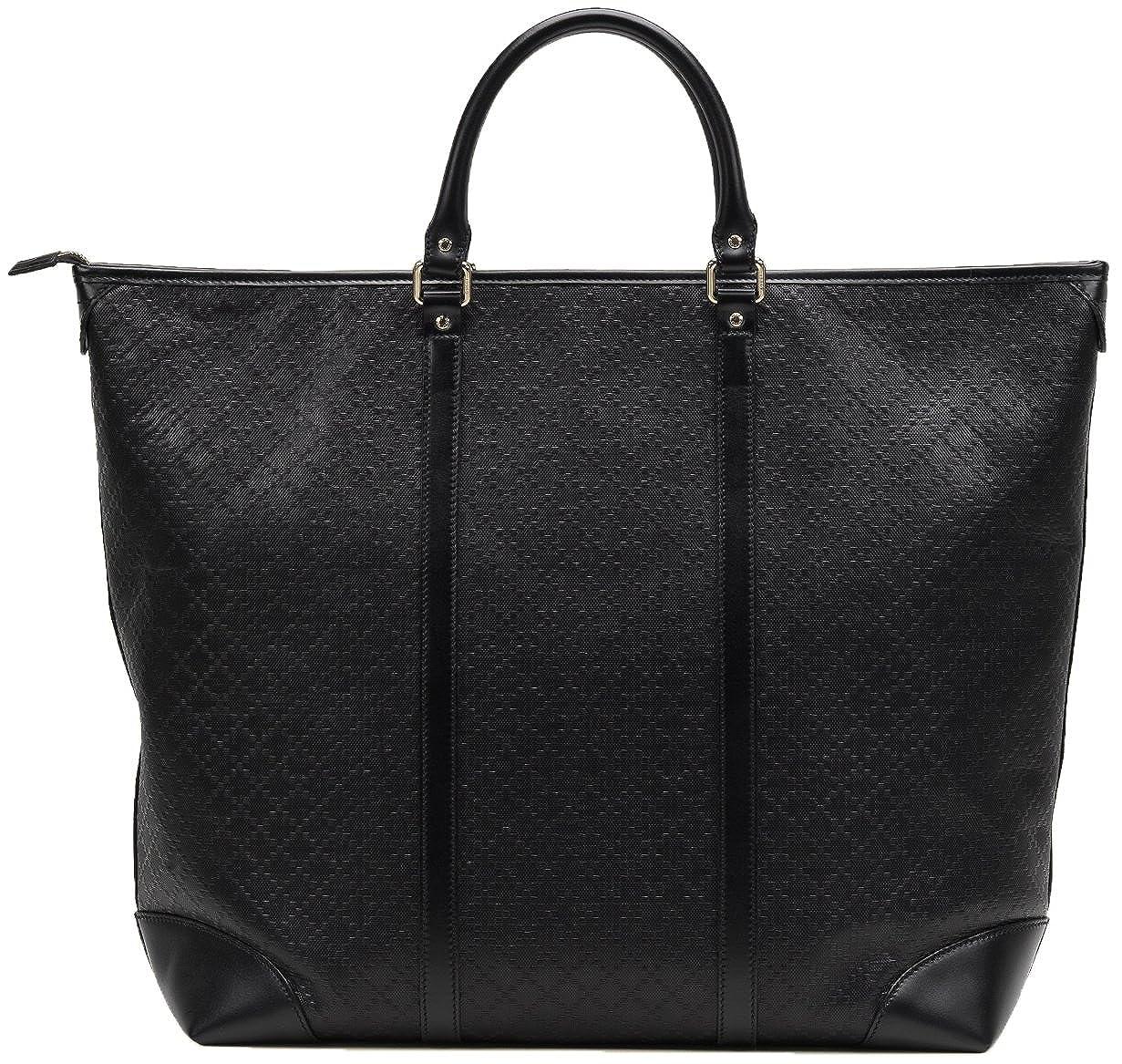 e4f9213da Amazon.com: Gucci Black GG Diamante Leather Top Handle Large Tote Bag: Shoes