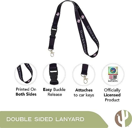 Texas Southern University TSU Tigers NCAA Car Keys ID Badge Holder Lanyard Keychain Detachable Breakaway Snap Buckle