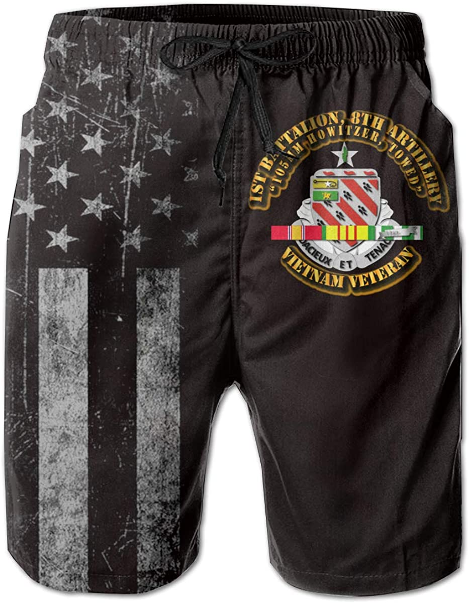 8th Artillery Mens Boardshorts Swim Trunks Beach Athletic Shorts SUNSUNNY 1st Battalion