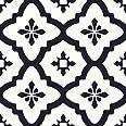 FloorPops FP2480 Comet Peel & Stick Tiles Floor decal, Black